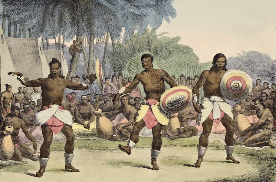 Voyage Pittoresque Autour de Monde - Danse des hommes dams les isles Sandwich (1822)