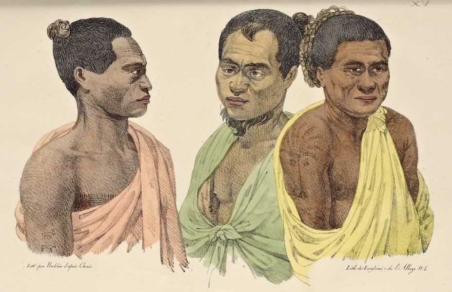Voyage Pittoresque Autour de Monde - Habitants des sles Sandwich (1822)