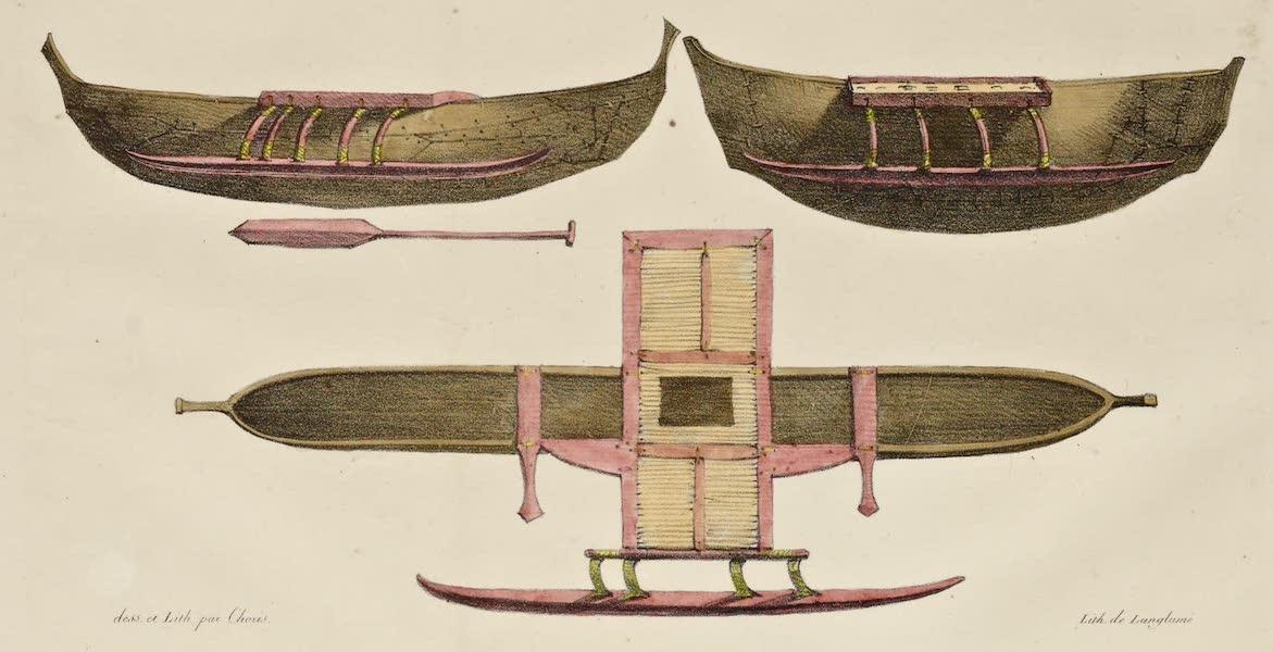 Voyage Pittoresque Autour de Monde - Bateaux a rames des isles Radak (1822)