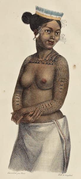 Voyage Pittoresque Autour de Monde - Femme du groupe des isles Saltikoff (1822)