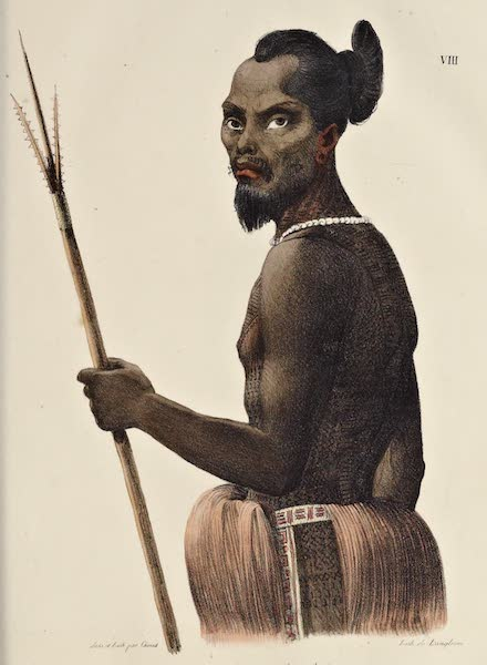 Voyage Pittoresque Autour de Monde - Labeleloa. Chef du groupe des islrs Koutousoff Smolenski (1822)
