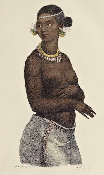 Voyage Pittoresque Autour de Monde - Femme du groupe des isles Tchitchagoff (1822)