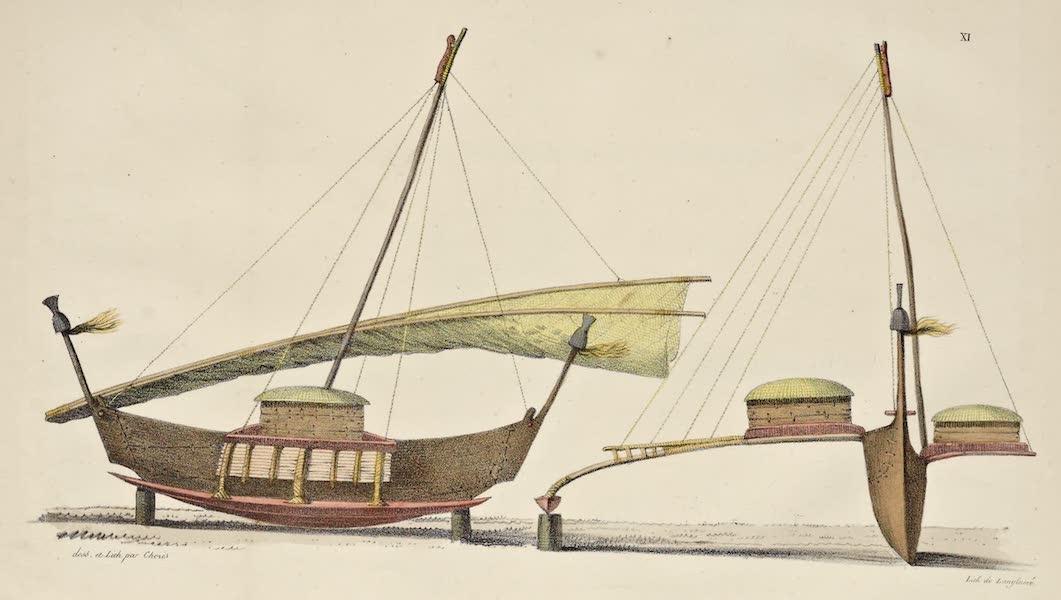 Voyage Pittoresque Autour de Monde - Bateaux a voile des isles Radak (1822)