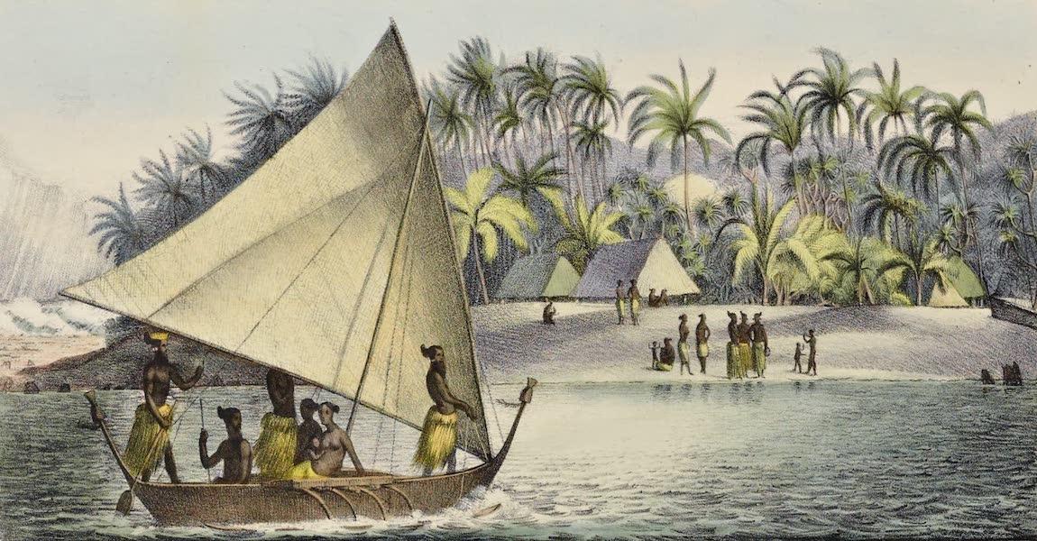 Voyage Pittoresque Autour de Monde - Vue d'une ile dans le groupe Krusenstern (1822)