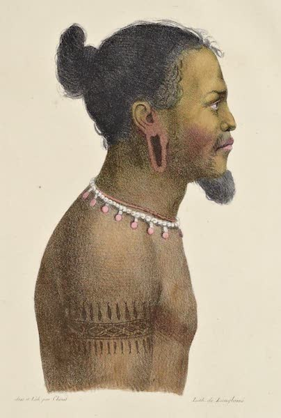 Voyage Pittoresque Autour de Monde - Kadou, habitant des isles Carolines. (1822)