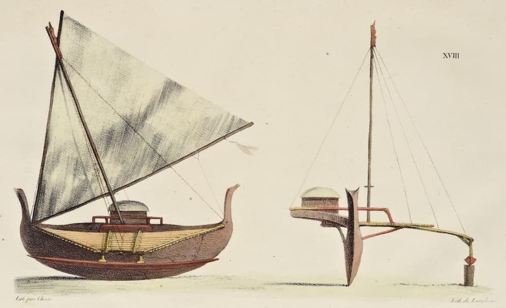 Voyage Pittoresque Autour de Monde - Bateau des isles Carolines (1822)