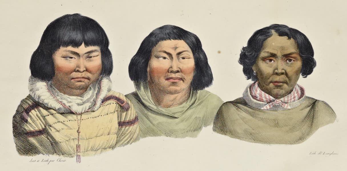 Voyage Pittoresque Autour de Monde - Habitans des isles Aleoutiennes. (hommes) (1822)