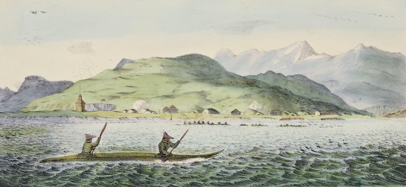 Voyage Pittoresque Autour de Monde - Oululuk principal etablissement sur l'ile d'Ounalachka (1822)