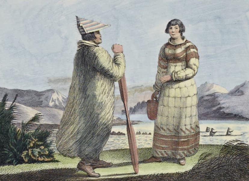 Voyage Pittoresque Autour de Monde - Costumes des habitants des Isles Aleoutiennes (1822)