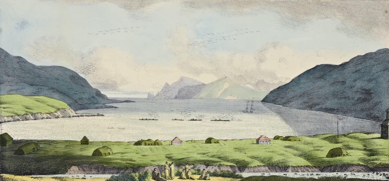 Voyage Pittoresque Autour de Monde - Vue du port d'Ounalaschka (1822)