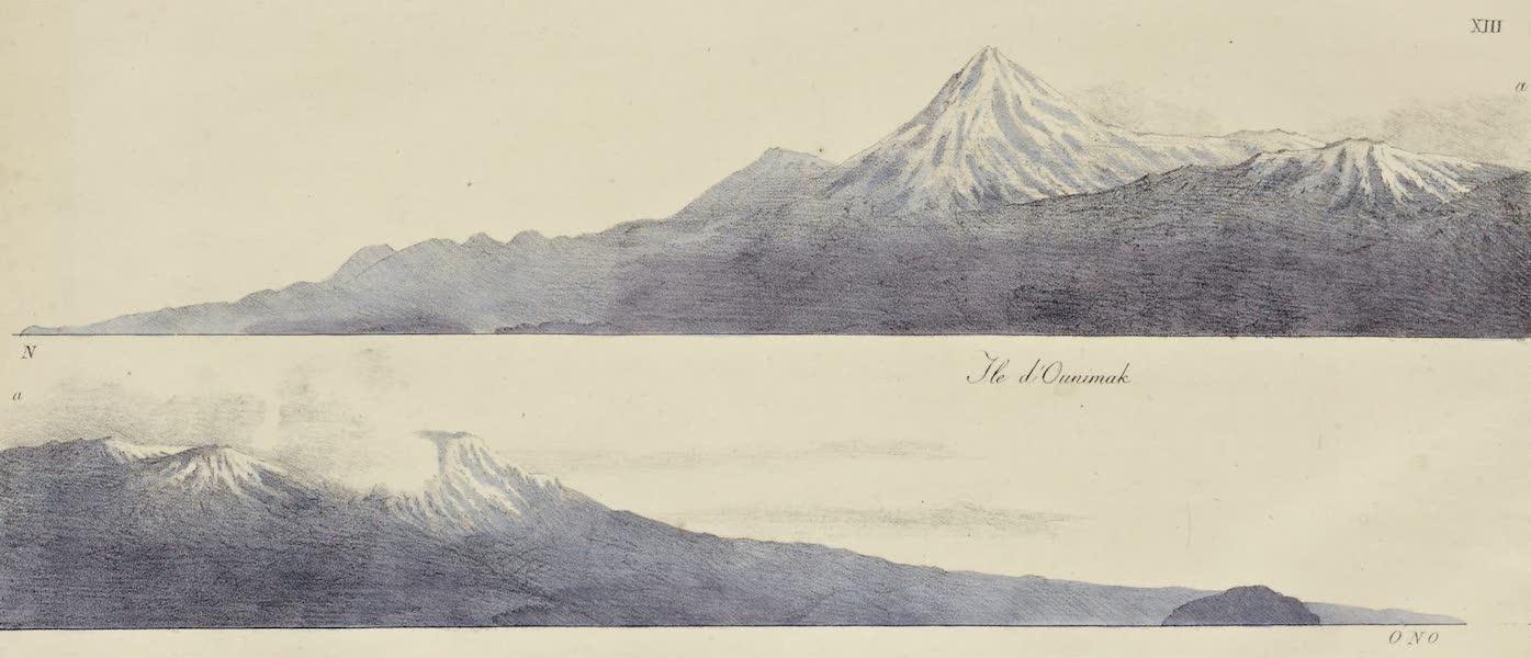 Voyage Pittoresque Autour de Monde - Ile d'Ounimak (1822)