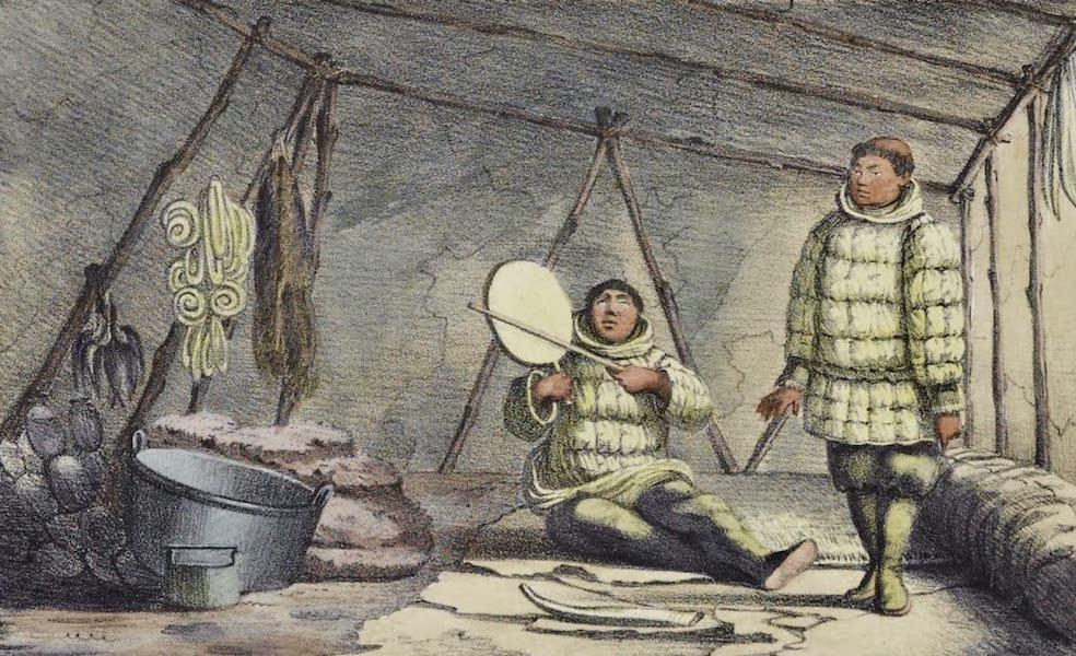 Voyage Pittoresque Autour de Monde - Interieur d'une maison dans l'ile St. Laurent (1822)