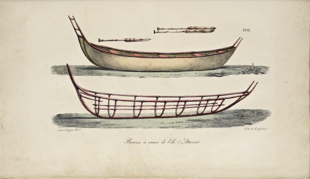 Voyage Pittoresque Autour de Monde - Bateau a rames de l'ile St. Laurent (1822)