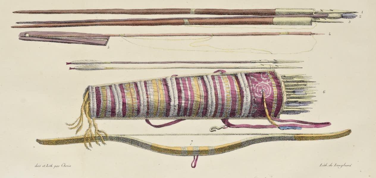 Voyage Pittoresque Autour de Monde - Armes des peuples qui habitent pres du detroit de Behring (1822)