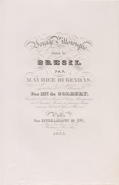 Voyage Pittoresque dans le Bresil - Title Page (1835)