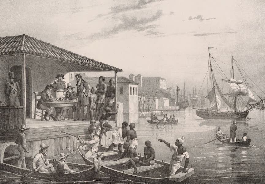 Voyage Pittoresque dans le Bresil - Debarquement (1835)