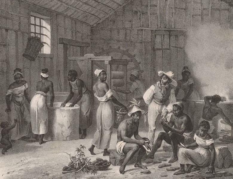 Voyage Pittoresque dans le Bresil - Preparation de la Racine de Mendiocca (1835)