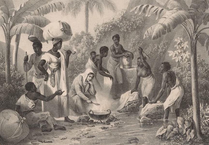 Voyage Pittoresque dans le Bresil - Blanchisseuses a Rio Janeiro (1835)