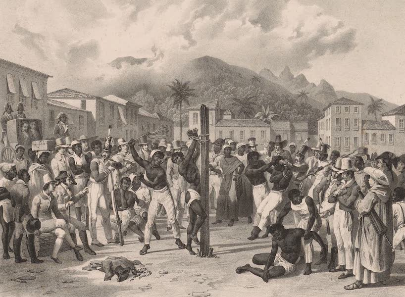 Voyage Pittoresque dans le Bresil - Punitions Publiques sur la Place St. Anne (1835)