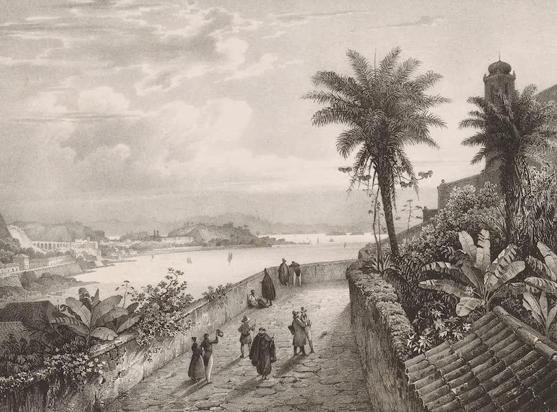 Voyage Pittoresque dans le Bresil - Vue du Rio-Janeiro prise pres de l'Eglise de Notre-Dame de la Gloire (1835)