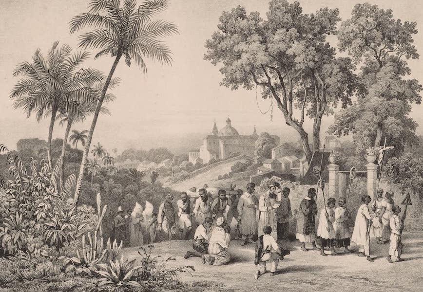 Voyage Pittoresque dans le Bresil - Enterrement d'un Negre a Bahia (1835)