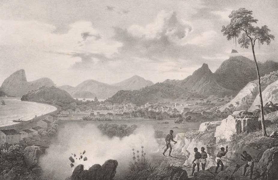 Voyage Pittoresque dans le Bresil - Vue de la Montagne de Corecovado et du Faubourg de Cadete prise de la Carriere (1835)