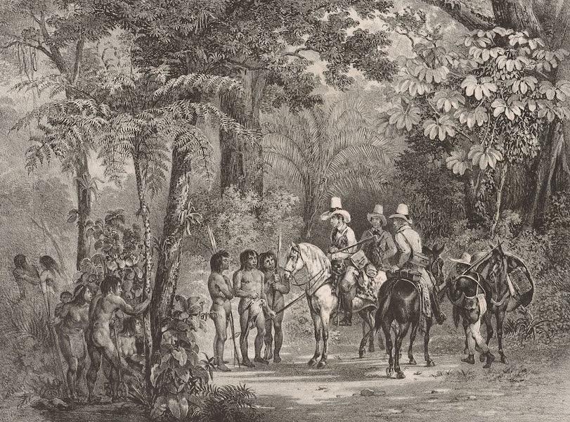 Voyage Pittoresque dans le Bresil - Rencontre d'Indiens avec des Voyageurs Europeens (1835)