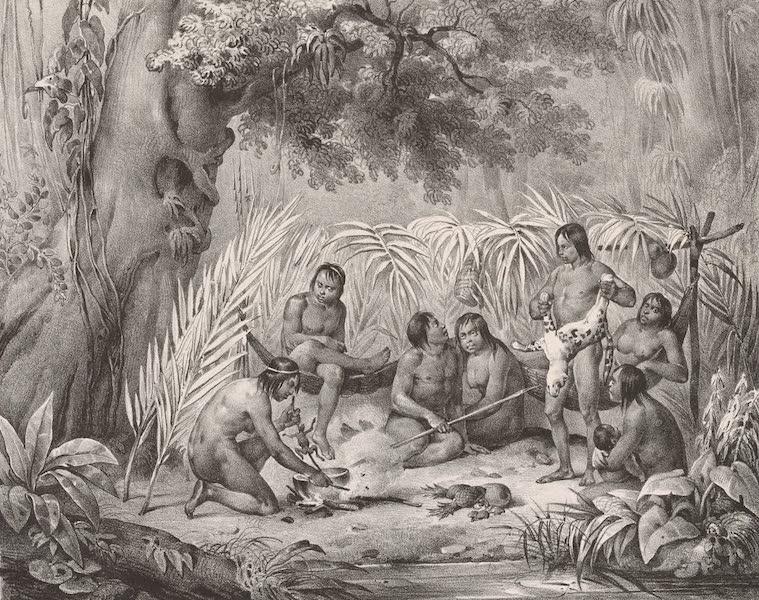 Voyage Pittoresque dans le Bresil - Indiens dans Leur Cabane (1835)