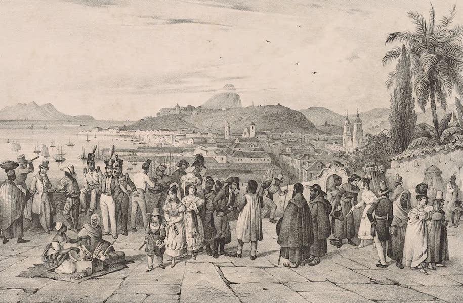 Voyage Pittoresque dans le Bresil - Vue prise Devant l'Eglise de San-Bendo a Rio-Janeiro (1835)