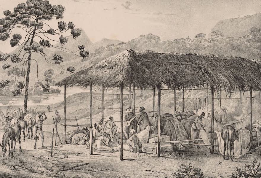 Voyage Pittoresque dans le Bresil - Repos d'une Caravanne (1835)