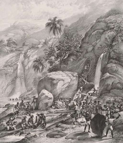 Voyage Pittoresque dans le Bresil - Lavage du Minerai d'Or pres de la montagne Itacolumni (1835)