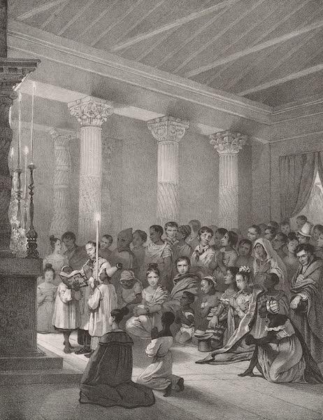 Voyage Pittoresque dans le Bresil - Messe dans l'Eglise de N.S. de Candelaria a Fernambouc (1835)