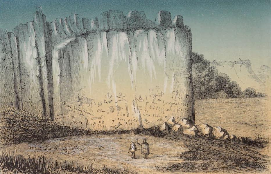 Voyage Pittoresque dans les Grands Deserts du Nouveau Monde - Rocher Hieroglyphique (1862)