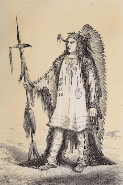 Voyage Pittoresque dans les Grands Deserts du Nouveau Monde - Chef Mandan (1862)
