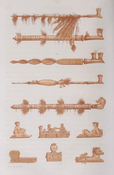 Voyage Pittoresque dans les Grands Deserts du Nouveau Monde - Calumet et Pipes Modernes (1862)