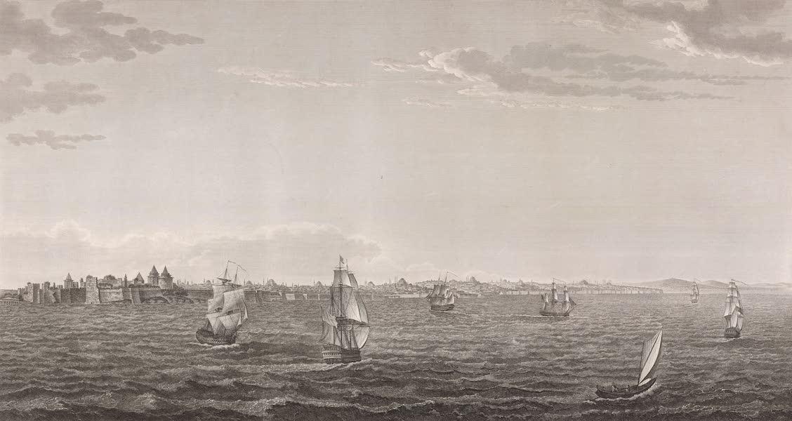 Voyage Pittoresque de Constantinople et des Rives du Bosphore Vol. 2 - No. 3. Vue du château des Sept-Tours, et de la ville de Constantinople telle qu'elle se présente du côté de la mer de Marmara (1819)