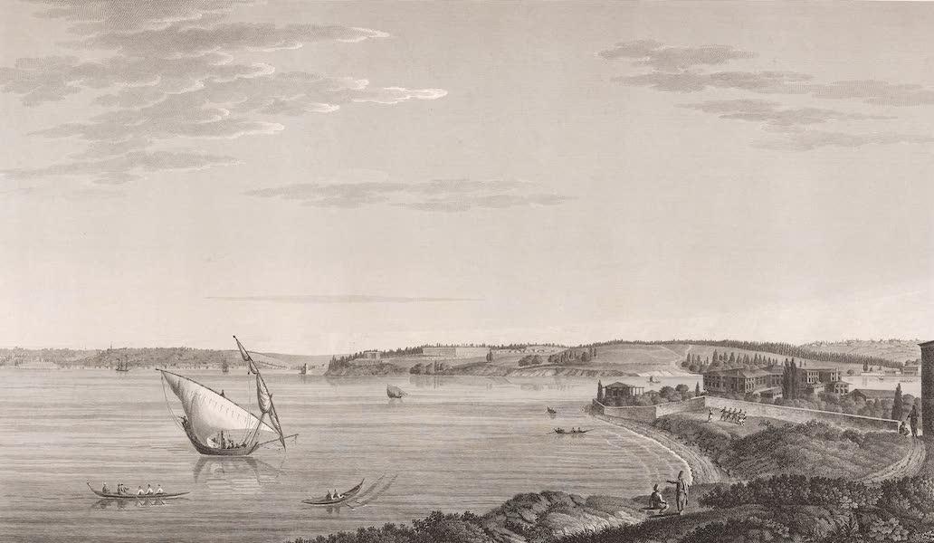 Voyage Pittoresque de Constantinople et des Rives du Bosphore Vol. 2 - No. 5. Vue de Kadi-Kieuï, village situé sur l'emplacement de l'ancienne ville de Chalcédoine, vis-à-vis Constantinople (1819)