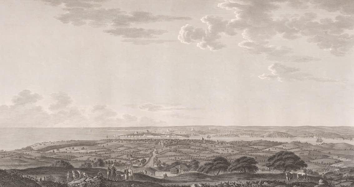 Voyage Pittoresque de Constantinople et des Rives du Bosphore Vol. 2 - No. 6. Vue générale de Constantinople, prise de la montagne de Boulgourlou, au-dessus de Scutari (1819)