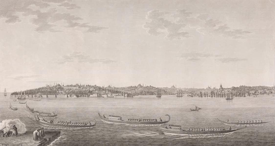 Voyage Pittoresque de Constantinople et des Rives du Bosphore Vol. 2 - No. 7. Vue de Constantinople, prise de la tour de Léandre (1819)