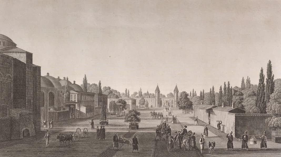 Voyage Pittoresque de Constantinople et des Rives du Bosphore Vol. 2 - No. 8. Vue de la première cour du sérail (1819)