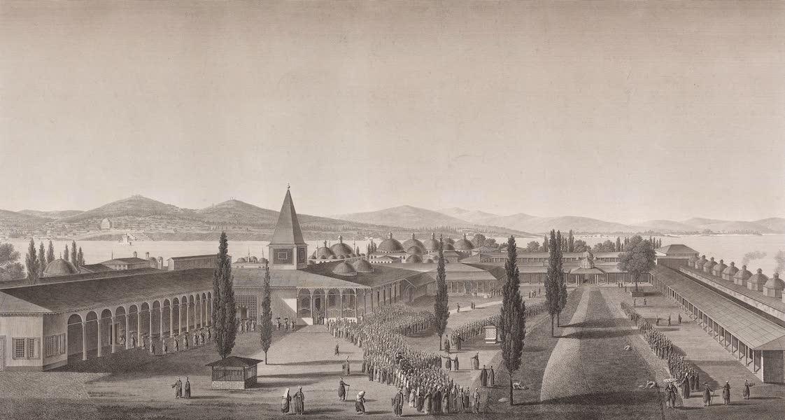 Voyage Pittoresque de Constantinople et des Rives du Bosphore Vol. 2 - No. 9. Vue de la seconde cour intérieure du sérail (1819)