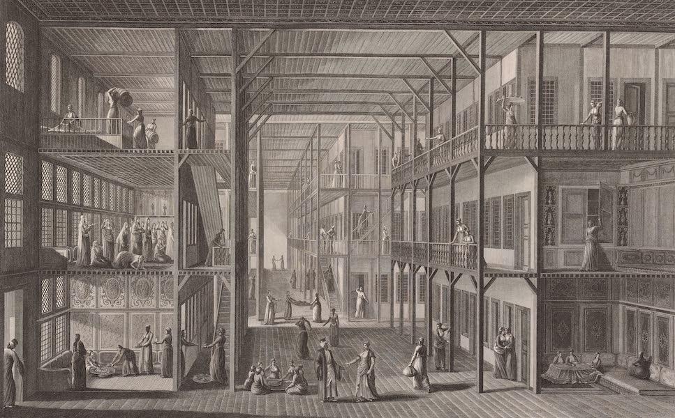 Voyage Pittoresque de Constantinople et des Rives du Bosphore Vol. 2 - No. 10. Intérieur d'une partie du harem du Grand-Seigneur (1819)