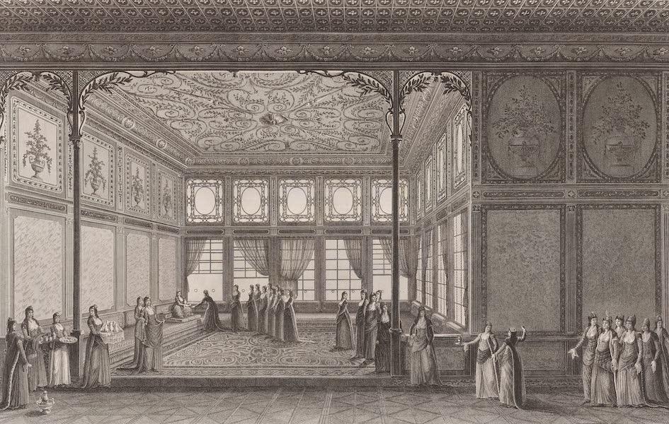 Voyage Pittoresque de Constantinople et des Rives du Bosphore Vol. 2 - No. 11. Intérieur d'un salon du palais de la sultane Hadidgé, sœur de Sélim III (1819)