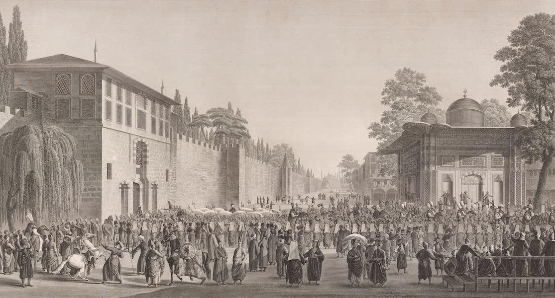 Voyage Pittoresque de Constantinople et des Rives du Bosphore Vol. 2 - No. 12. Marche solennelle du Grand-Seigneur, le jour du Baïram (1819)