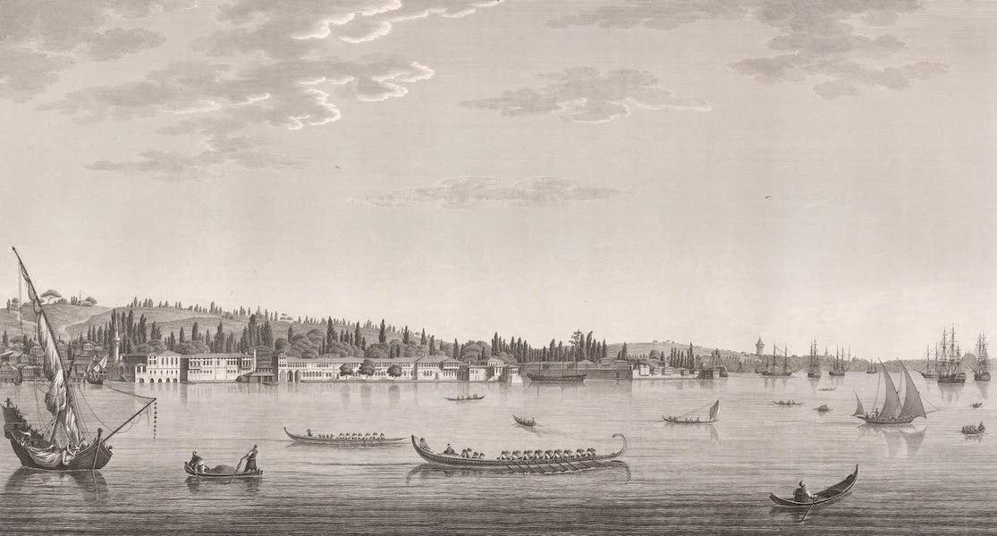 Voyage Pittoresque de Constantinople et des Rives du Bosphore Vol. 2 - No. 17. Vue d'Aïnali-Kavak, près de l'arsenal, dans l'intérieur du port de Constantinople (1819)