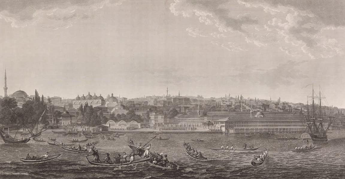 Voyage Pittoresque de Constantinople et des Rives du Bosphore Vol. 2 - No. 21. Vue de la place et des casernes de Top-Hané, à l'entrée du port de Constantinople (1819)