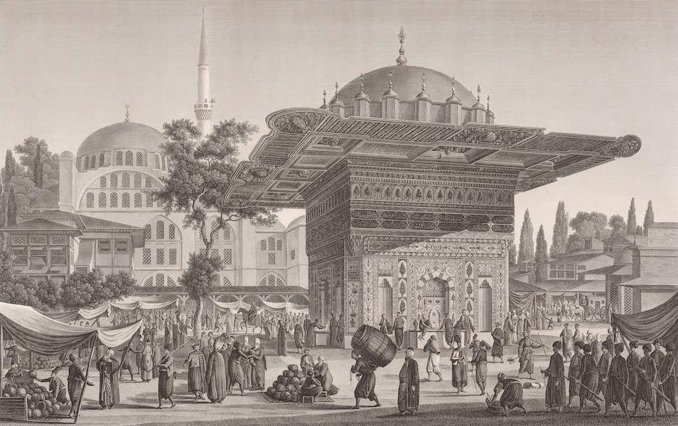 Voyage Pittoresque de Constantinople et des Rives du Bosphore Vol. 2 - No. 22. Vue de la place et de la fontaine de Top-Hané (1819)