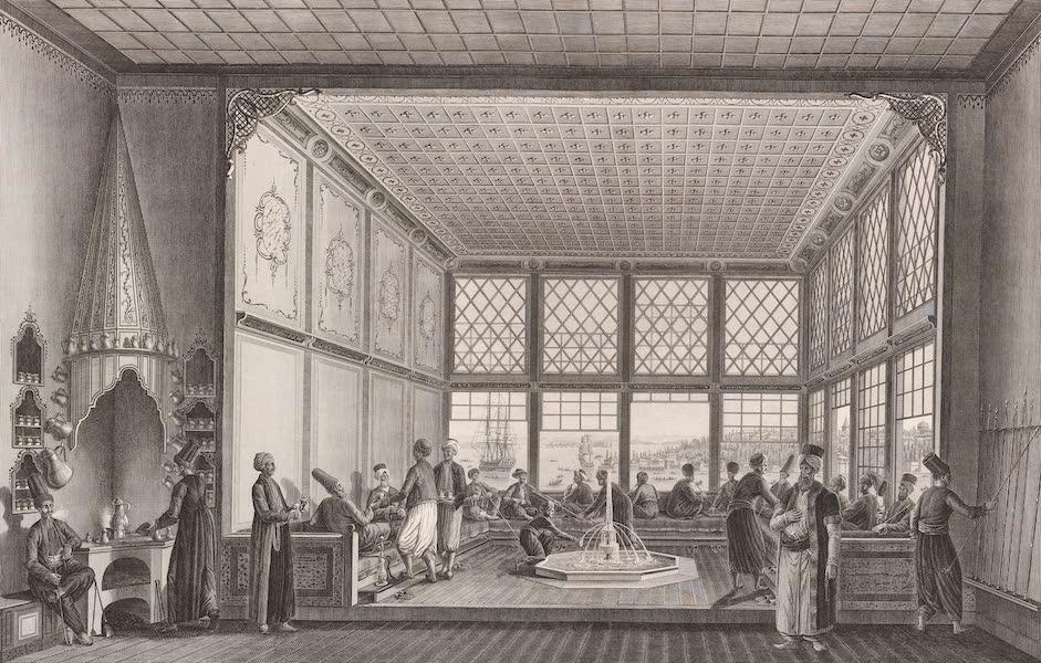 Voyage Pittoresque de Constantinople et des Rives du Bosphore Vol. 2 - No. 23. Intérieur d'un café public, sur la place de Top-Hané (1819)