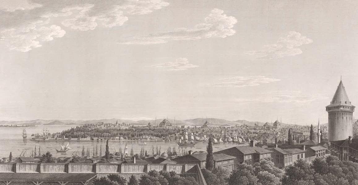 Voyage Pittoresque de Constantinople et des Rives du Bosphore Vol. 2 - No. 24. Vue d'une partie de la ville de Constantinople, avec la pointe du sérail, prise du faubourg de Péra (1819)