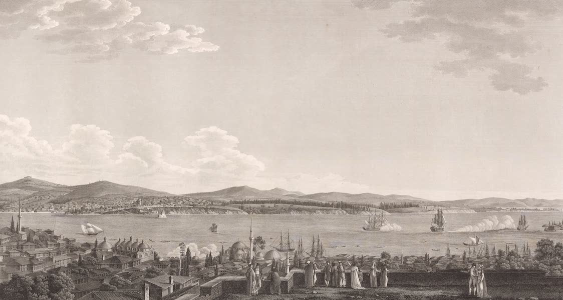 Voyage Pittoresque de Constantinople et des Rives du Bosphore Vol. 2 - No. 25. Vue de la ville de Scutari, prise à Péra (1819)